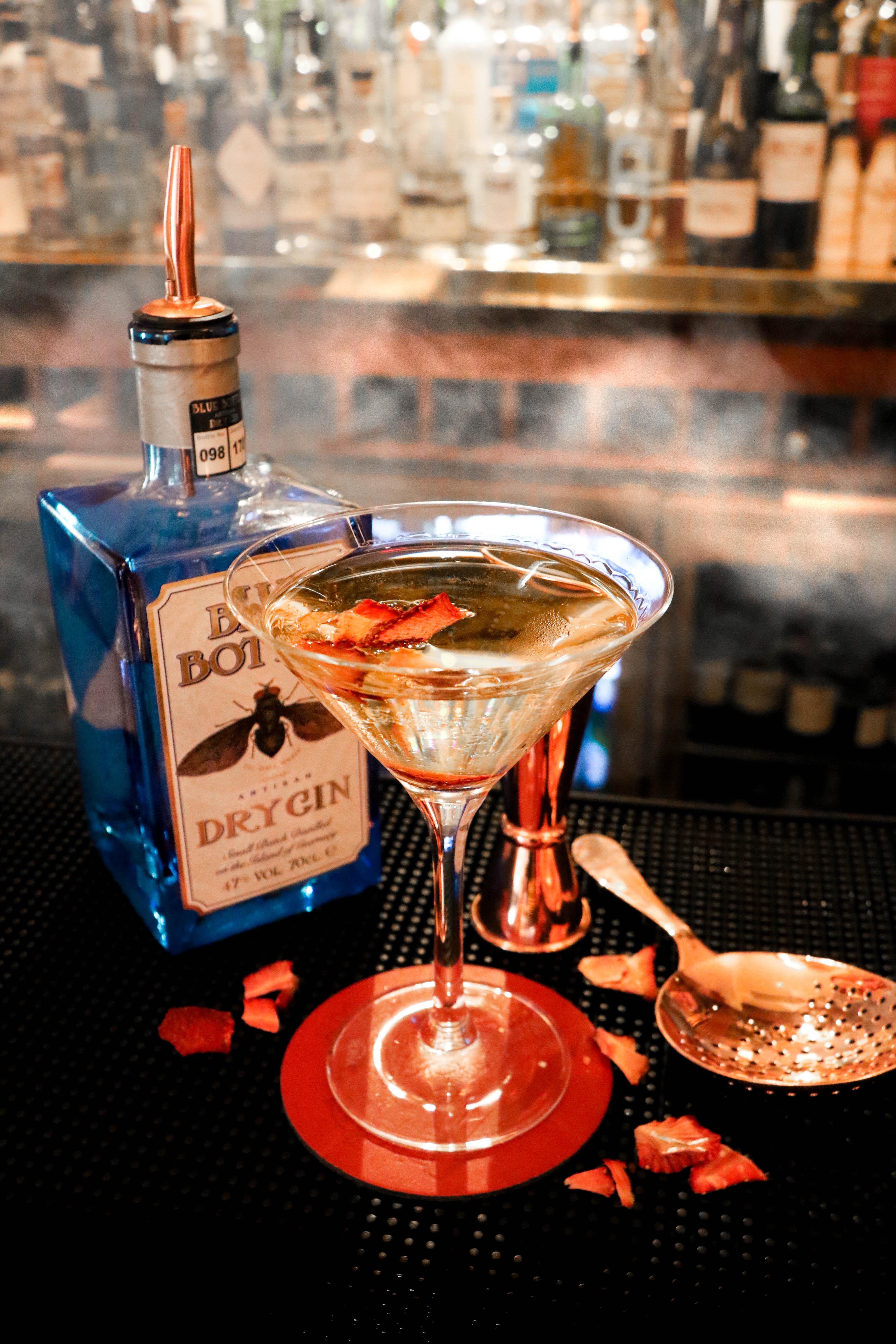 Blue Bottle Gin OGH Crown Club Martini