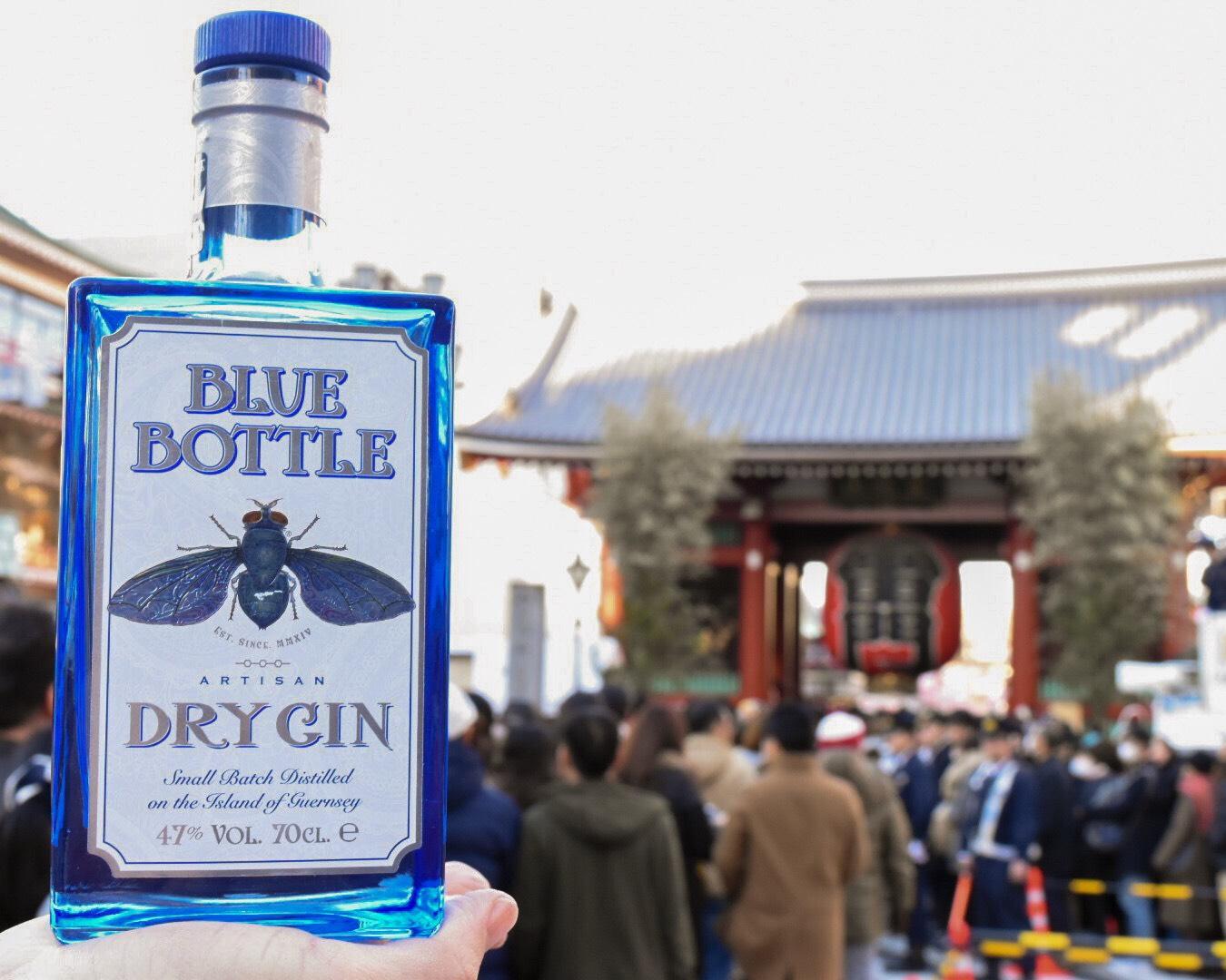 Blue Bottle Gin_AsakusaKaminarimon_Japan
